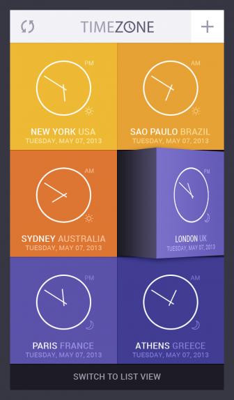 Time Zone App UI #1